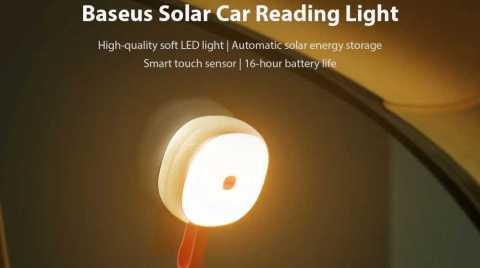 Baseus Solar Car Reading Light - Baseus Solar Car Reading Light Gearbest Coupon Promo Code