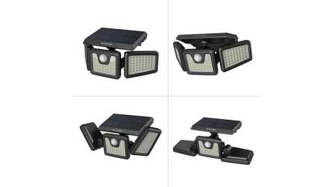 BlitzWolf BW OLT4 - BlitzWolf BW-OLT4 3 Heads Solar Flood Light Banggood Coupon Promo Code [USA Warehouse]
