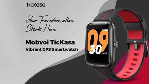 Mobvoi TicKasa - Mobvoi TicKasa Vibrant GPS Smartwatch Gearbest Coupon Promo Code