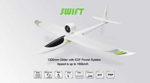 TOPRC Swift - TOPRC Swift EPO Sport EDF RC Airplane Banggood Coupon Promo Code [PNP]