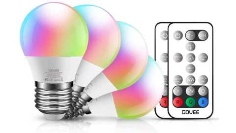 Govee Color Changing Light Bulbs - Govee Color Changing Light Bulbs with Remote Amazon Coupon Promo Code [4Pack]