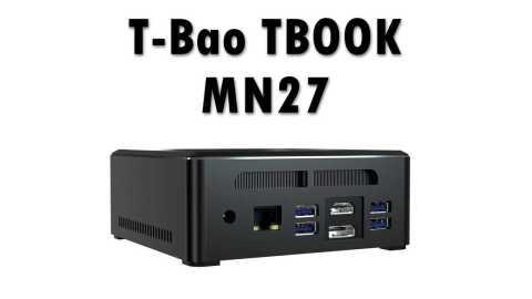 T Bao TBOOK MN27 - T-Bao TBOOK MN27 Mini PC Banggood Coupon Promo Code [Ryzen7 2700U 8+256GB SSD]