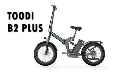 TOODI B2 PLUS - TOODI B2 PLUS Folding Electric Bike Banggood Coupon Promo Code [Czech Warehouse]