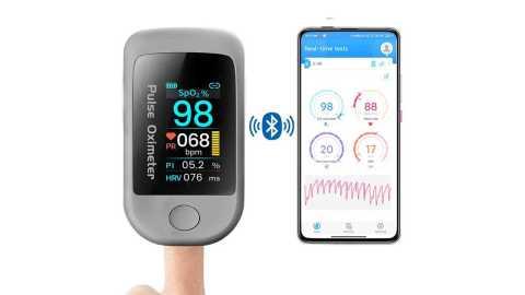 Boxym Smart Bluetooth Fingertip Pulse Oximeter - Boxym Smart Bluetooth Fingertip Pulse Oximeter Banggood Coupon Promo Code