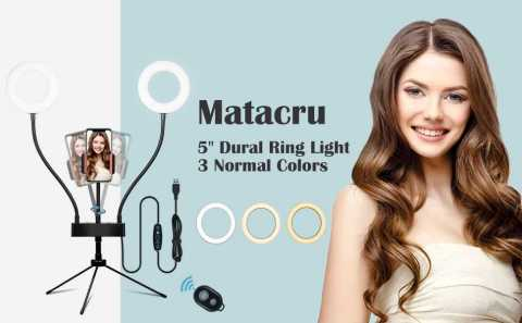 Matacru Selfie Ring Light - Matacru Selfie Ring Light with Tripod Stand Amazon Coupon Promo Code