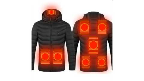 TENGOO 8 Areas USB Electric Heated Jacket - TENGOO 8-Areas Electric Heated Jacket Banggood Coupon Promo Code