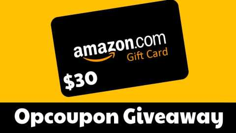 amazon 30 gift card giveaway - Opcoupon $30 Amazon Gift Card Giveaway