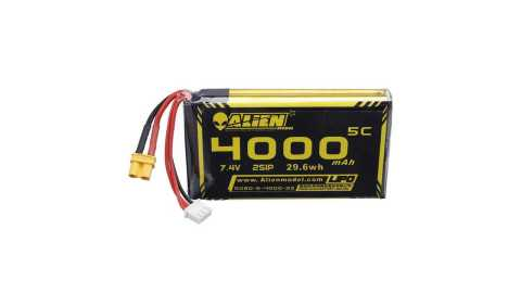 ALIENMODEL 74V 4000mAh 2S 5C Lipo Battery - Alien Model 7.4V 4000mAh 5C 2S Lipo Battery for QX7 Radiomaster TX16SR Banggood Coupon Promo Code