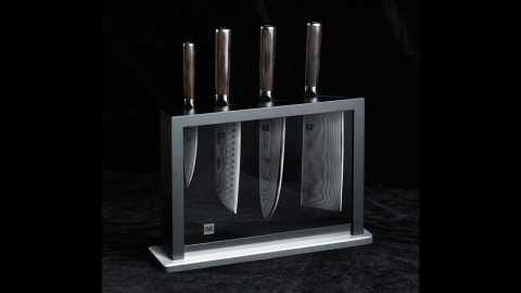 HUOHOU Damascus Kitchen Knife Set - HUOHOU 4Pcs Damascus Kitchen Knife Set Banggood Coupon Promo Code