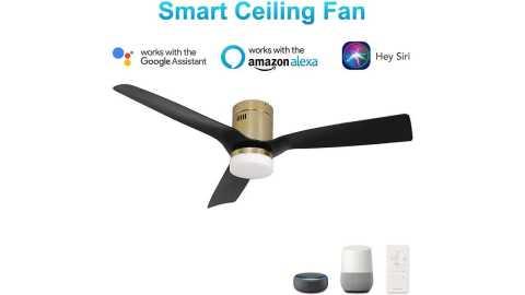 SMAAIR Smart Ceiling Fan - SMAAIR 52 Inch Smart Ceiling Fan Amazon Coupon Promo Code
