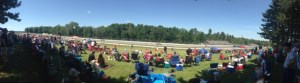 My view for the IndyCar race