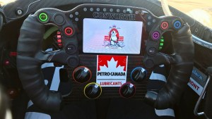 James Hinchcliffe's steering wheel for 2018.