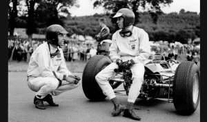 Dan Gurney and Jim Clark.