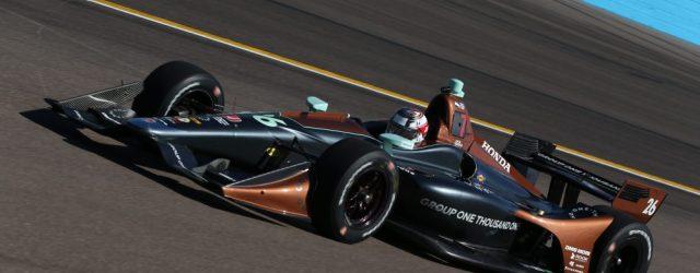 Zach Veach at ISM Raceway