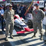 Conor Daly car and soldiers