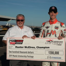 Hunter McElrea wins Road to Indy USF2000 Scholarship Shootout