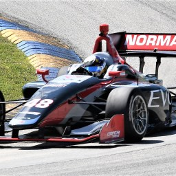 Norman and Megennis lead final Indy Lights test session at Homestead-Miami