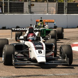 Road to Indy: Thompson rallies for Indy Pro 2000 win in series debut