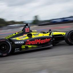Sebastien Bourdais quickest in accident-marred second practice at Portland