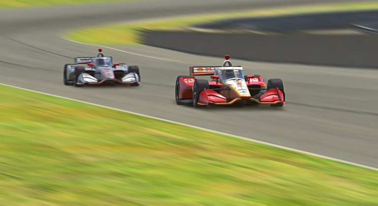 McLaughlin completes Penske 1-2 finish in INDYCAR iRacing race at Barber