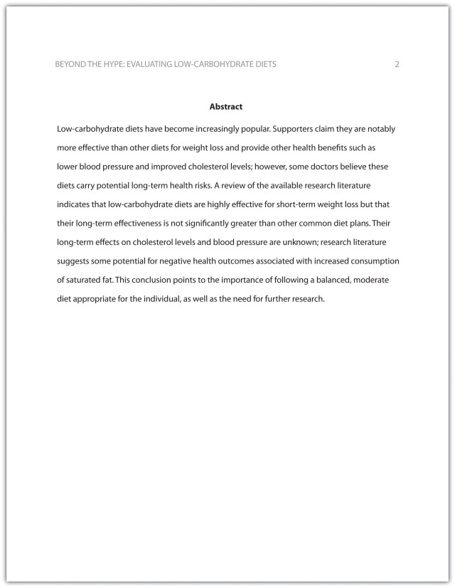 166.16 Formatting a Research Paper – Writing for Success