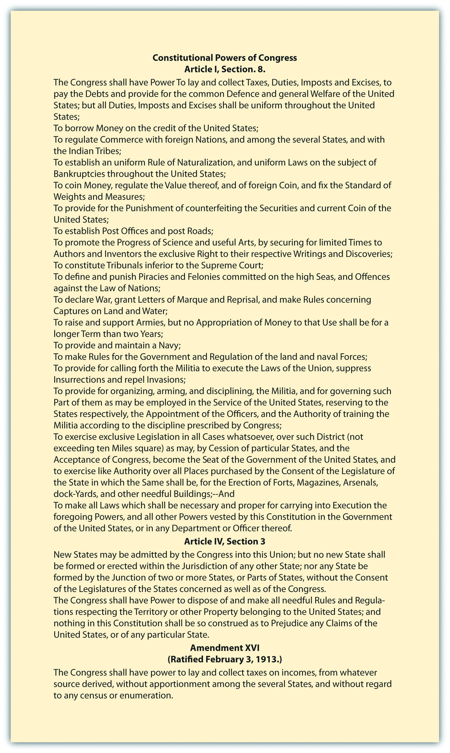 12 1 The Powers Of Congress American Government And