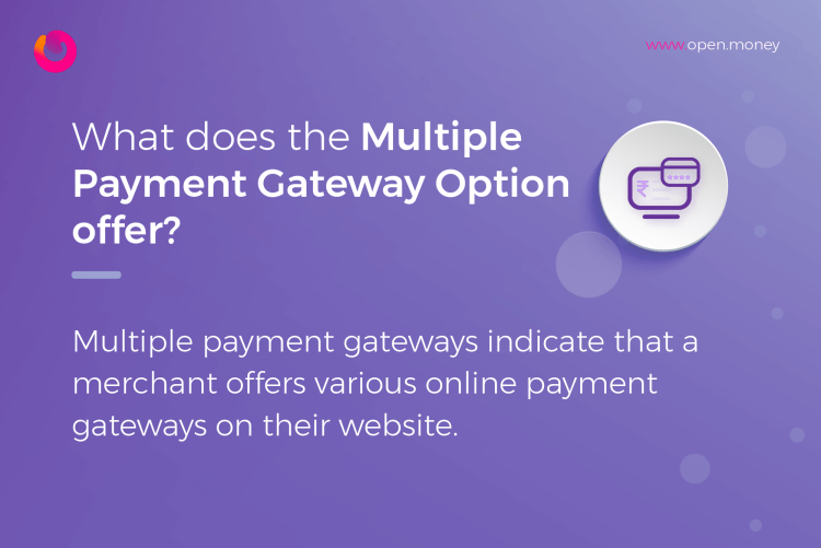 What does the multiple payment gateway option offer?