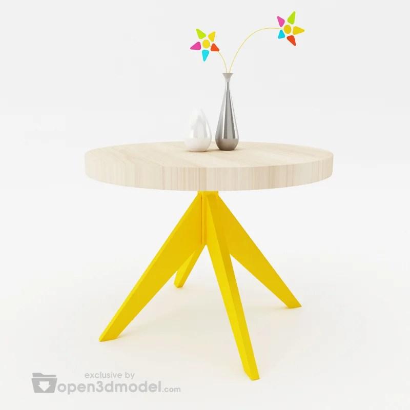 Slow Table 3dsMax Model Vray