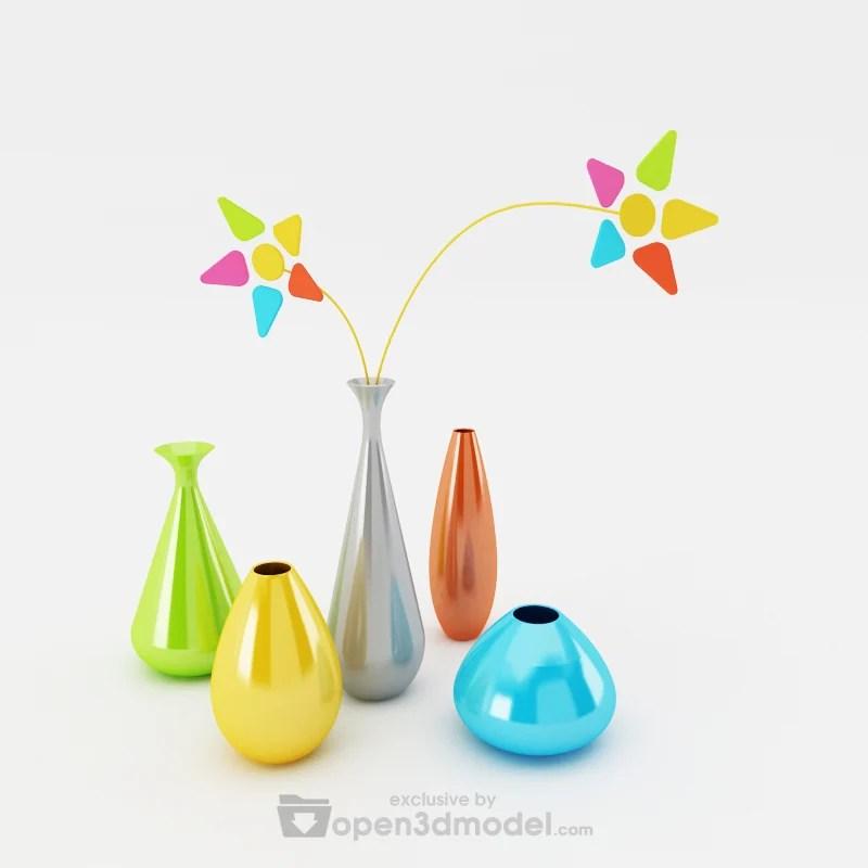 Simply Flower Vases  Vray