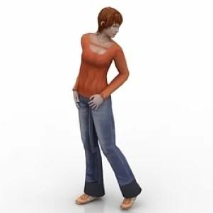 Fashion Girl 3D Model