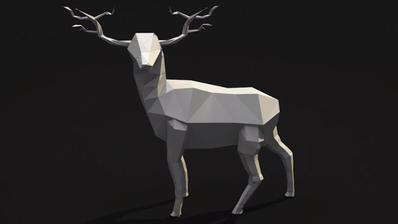 Low Poly Deer Free 3d Model ID6932 - Free Download ( 3ds