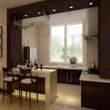الداخلية الحديثة مطبخ دافئ نمط الداخلية