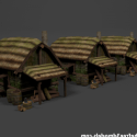 Medieval Huts Set
