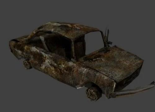 Car Scrap Lowpoly Car 3d Model