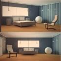 ベッドルームのインテリアシーン