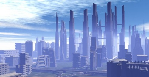 Fantasy City Exterior Scene