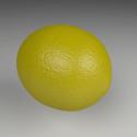 الليمون الأصفر نموذج 3d مجانا