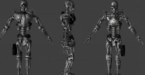 T-800 Terminator Robot 3d Model ID11557 - Free Download (obj