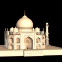 Taj Mahal Building Free 3d Model