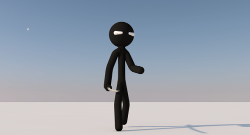 Animated Stickman Rigged Free 3d Model Character ID11520