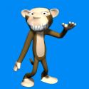 Evil Monkey Cartoon Character