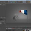 フランスの国旗と団結のロゴ