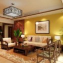 Modern Sun Living Room Interior Scene