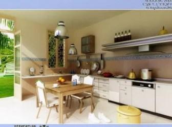 Fresh Kitchen Restaurant Interior Scene 3d Max Model Free