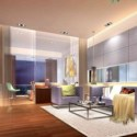 Modern Warm Living Room Scene 3d Max Model