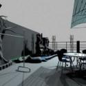 Roof Garden Building 3dsMax Model