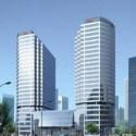 Modern High-rise Building Exterior  Scene
