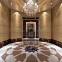Hotel Stairwell Interior Scene