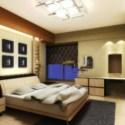 Warm Bedroom Interior Scene