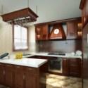 Solid Wood Kitchen Interior Scene